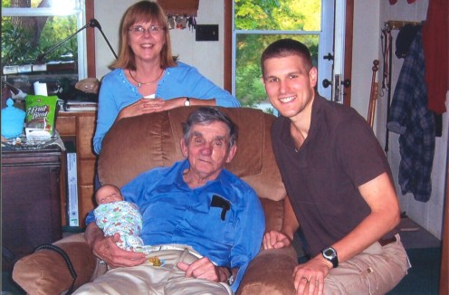 Bob with his great grandson, Benson